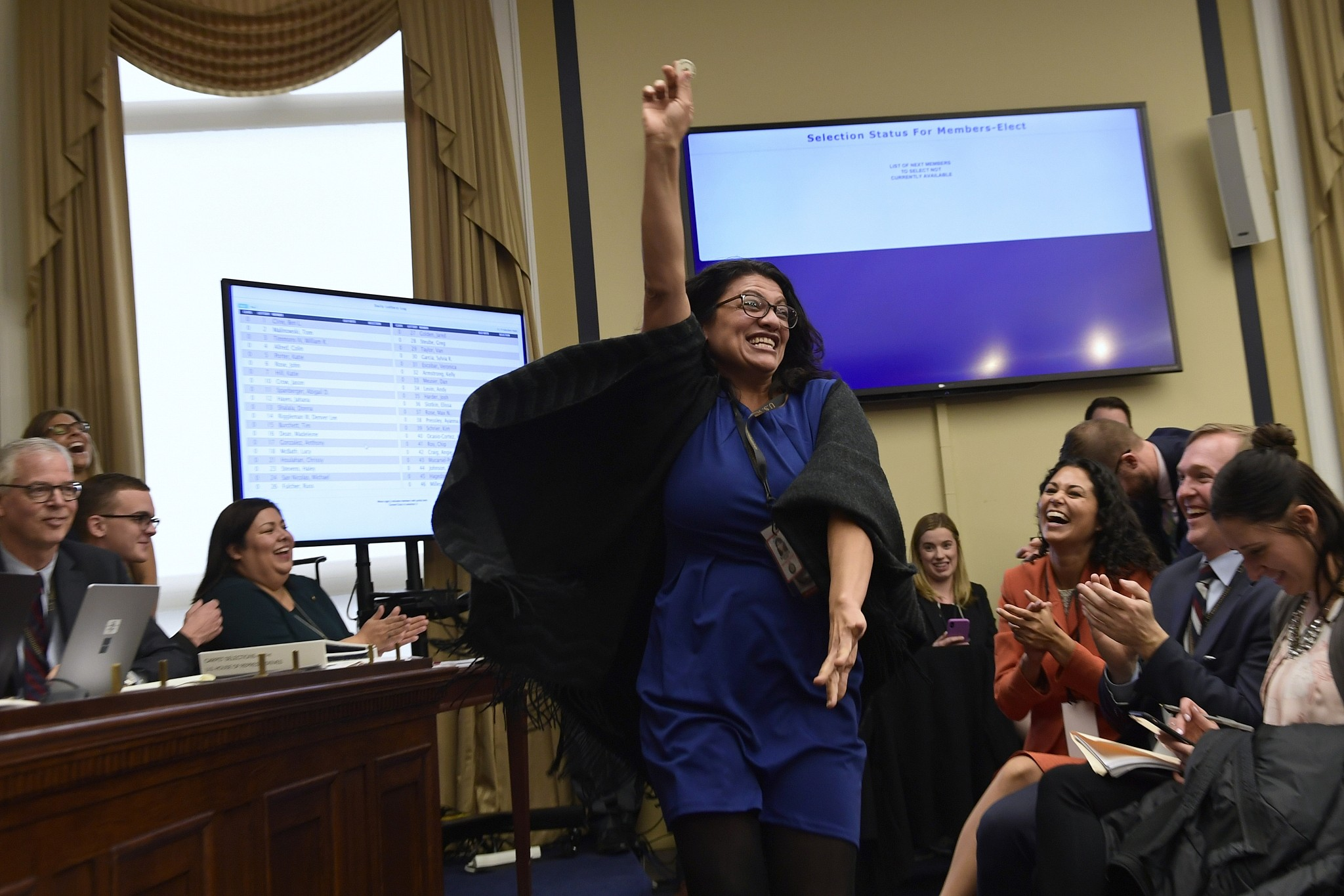 Palestinian US Congresswoman Rashida Tlaib Curses Donald Trump 1st Day in Office