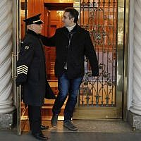 Michael Cohen, former lawyer to US President Donald Trump, leaves his apartment building on New York's Park Avenue, Friday, December 7, 2018. (AP/Richard Drew)