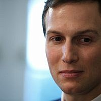 In this photo from December 13, 2018, White House senior adviser Jared Kushner listens during a meeting between US President Donald Trump and newly elected governors in the Cabinet Room of the White House in Washington. (AP Photo/Evan Vucci)