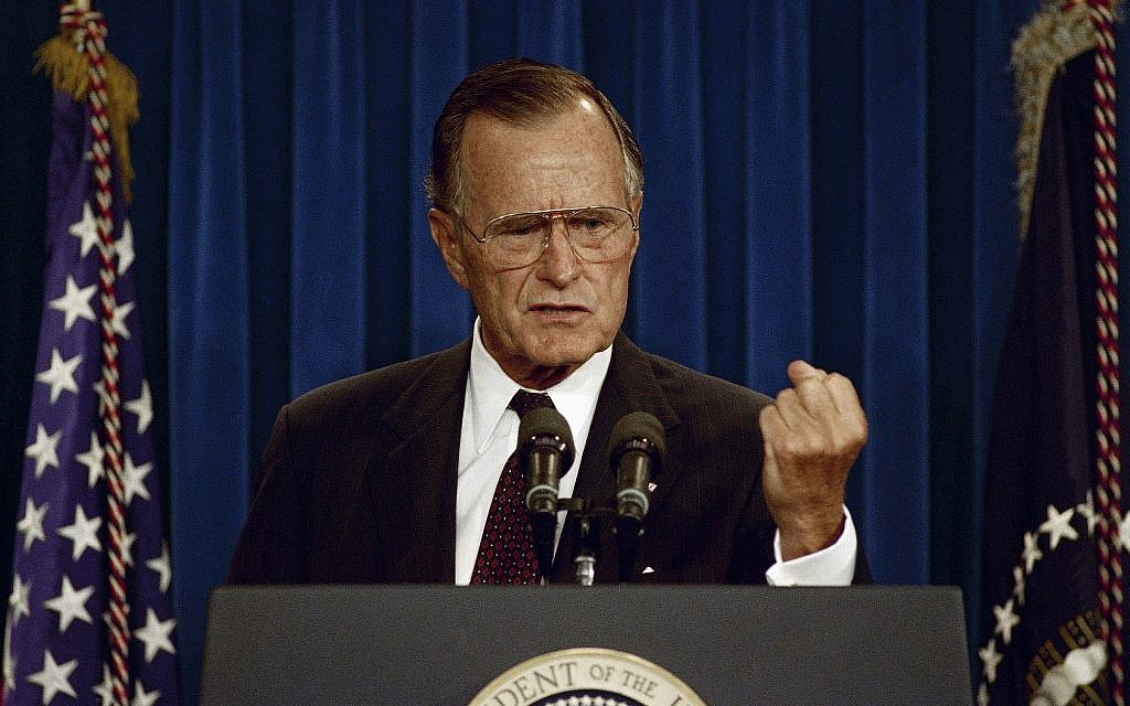How Lonely Little George H W Bush Changed The Us Israel