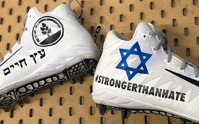 New England Patriots wide receiver Julian Edelman posts a picture of his cleats to be worn during a game on December 16, 2018, to honor the victims of the Pittsburgh synagogue shooting. (Julian Edelman/Twittter)