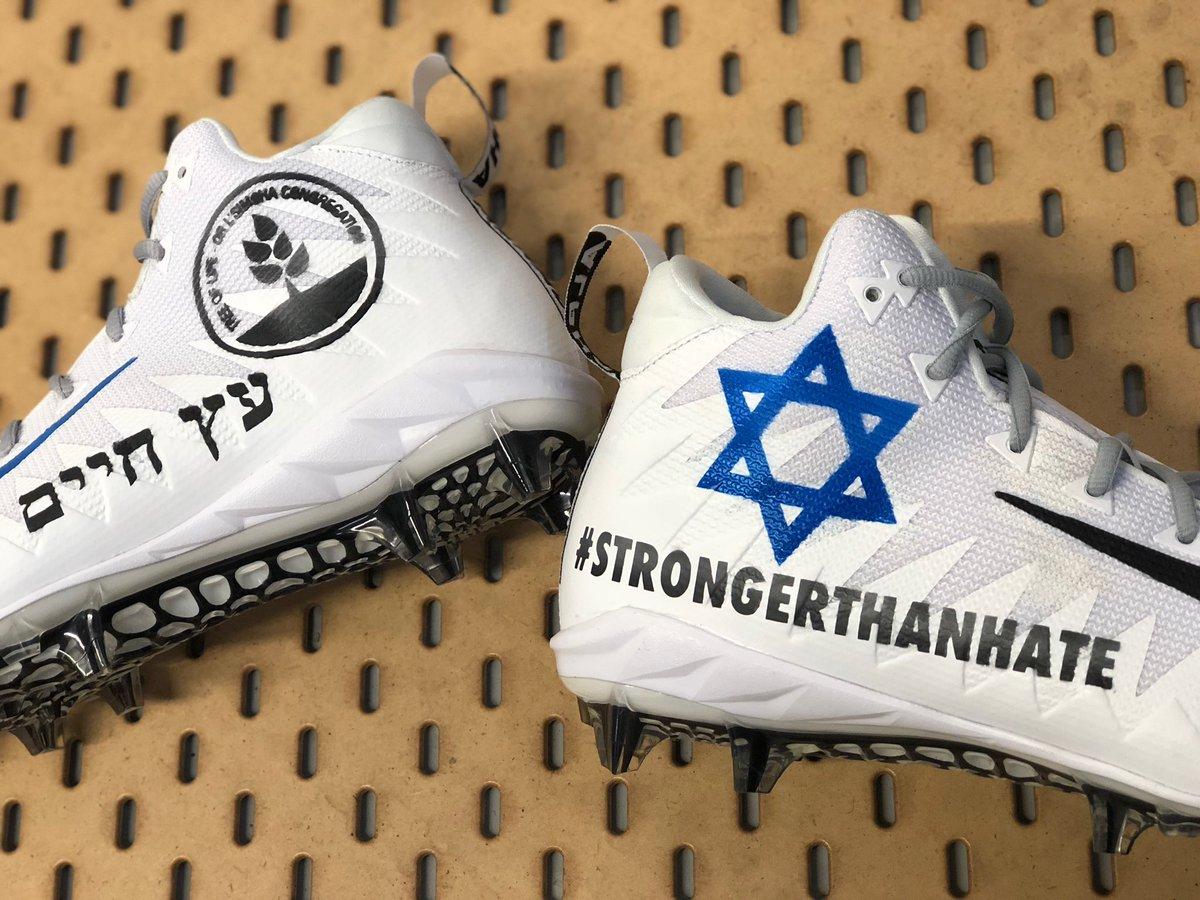 New England Patriots wide receiver Julian Edelman posts a picture of his  cleats to be worn 6ad36811c