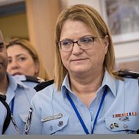 Israel Police's Human Resources Department head Deputy Commissioner Gila Gaziel at the Knesset on February 5, 2018. (Miriam Alster/Flash90)