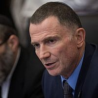 Knesset Speaker Yuli Edelstein attends a committee meeting at the Knesset, July 2, 2018. (Hadas Parush/Flash90)