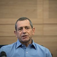 Head of Shin Bet security service Nadav Argaman attends the Defense and Foreign Affairs Committee meeting at the Knesset, November 6, 2018. (Hadas Parush/Flash90)