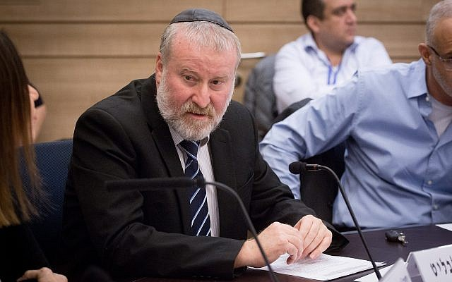 Attorney General Avichai Mandelblit attends a State Control Committee meeting in the Knesset on December 3, 2018. (Miriam Alster/Flash90)