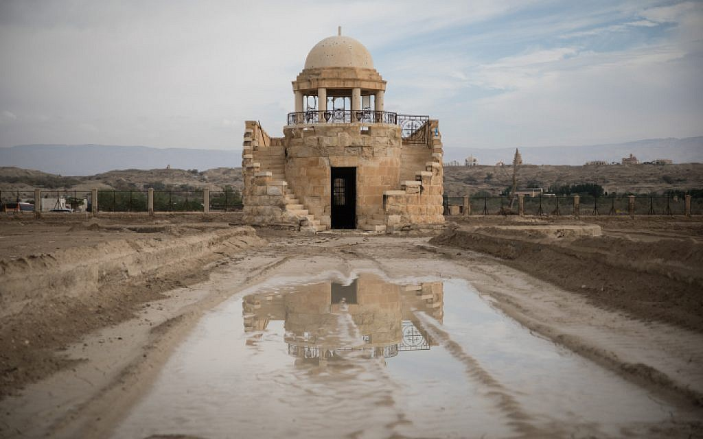 """The Franciscan Chapel in the """"Land of Monasteries"""" near the site of Qasr al Yahud, the place where Jesus is believed to have been baptized on December 9, 2018. (Hadas Parush/Flash90)"""