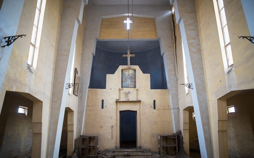 An old Ethiopian Church that was recently cleared of mines near the site of Qasr al Yahud, the place where Jesus is believed to have been baptized, near the West Bank town of Jericho, on December 9, 2018. (Hadas Parush/Flash90)