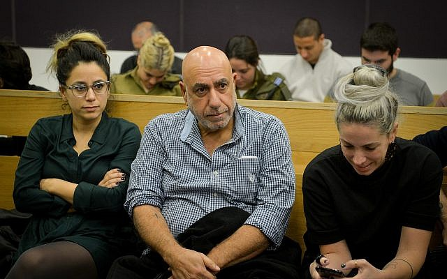 Former Jerusalem District Commander, Nissan 'Niso' Shaham, at the district court in Tel Aviv on December 10, 2018 (Flash90)