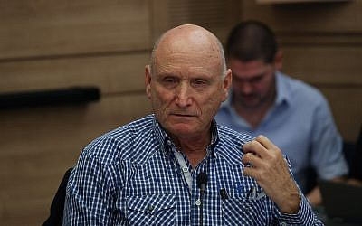 Defense Ministry Ombudsman Maj. Gen. (res.) Yitzhak Brick at a Knesset State Control Committee meeting in the Knesset, on December 12, 2018. (Yonatan Sindel/Flash90)