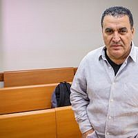 Former Israel Police Maj. Gen. Menashe Arviv at the Rishon Lezion Magistrate's Court on December 19, 2018. (Flash90)