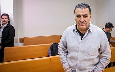 Former Israel Police Maj. Gen. Menashe Arviv at the Rishon Lezion Magistrate's Court on December 19, 2018. (Flash90)