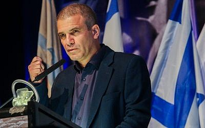 Former IDF brigadier general Gal Hirsch gives a press conference in Tel Aviv announcing his entry into politics, December 26, 2018.(Flash90)