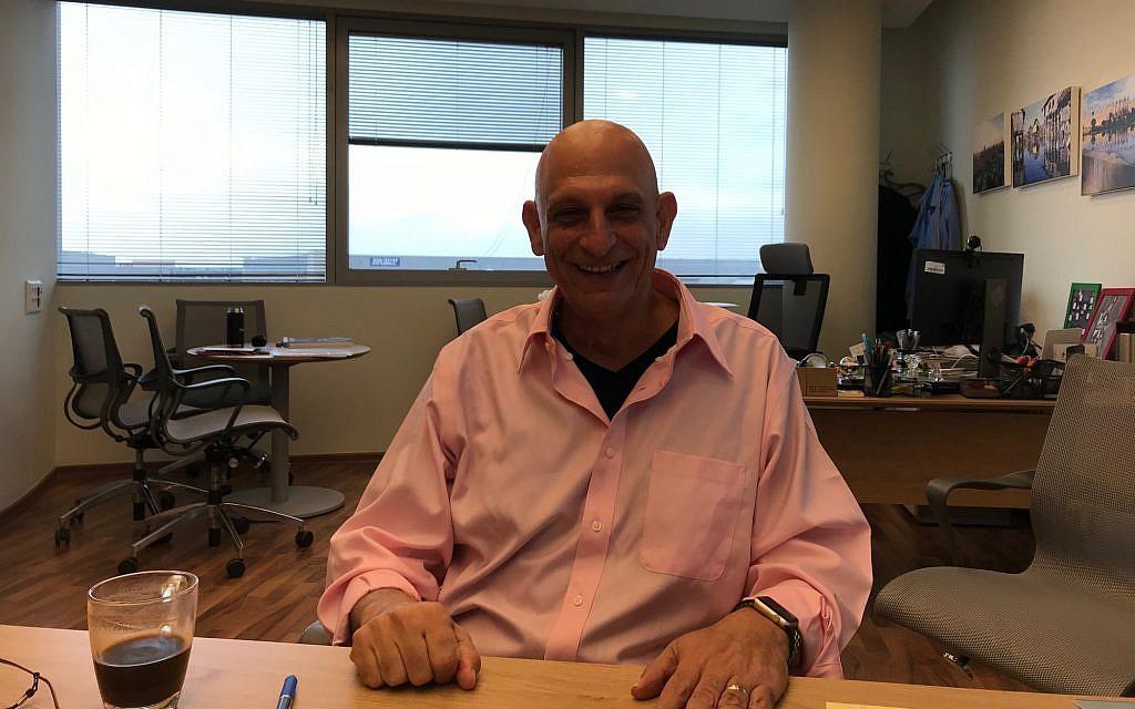 Aharon Aharon, the head of the Israel Innovation Authority (Shoshanna Solomon/The Times of Israel)
