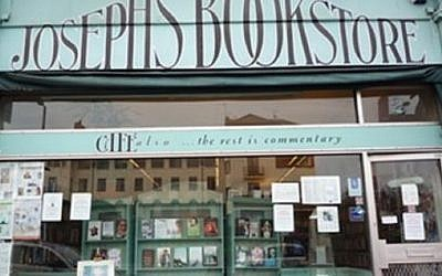 Joseph's Bookstore in London was shuttered just before Passover. (Courtesy)