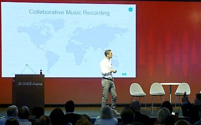Tarek Issa, the founder of Lofic, a collaborative music platform (YouTube screenshot)