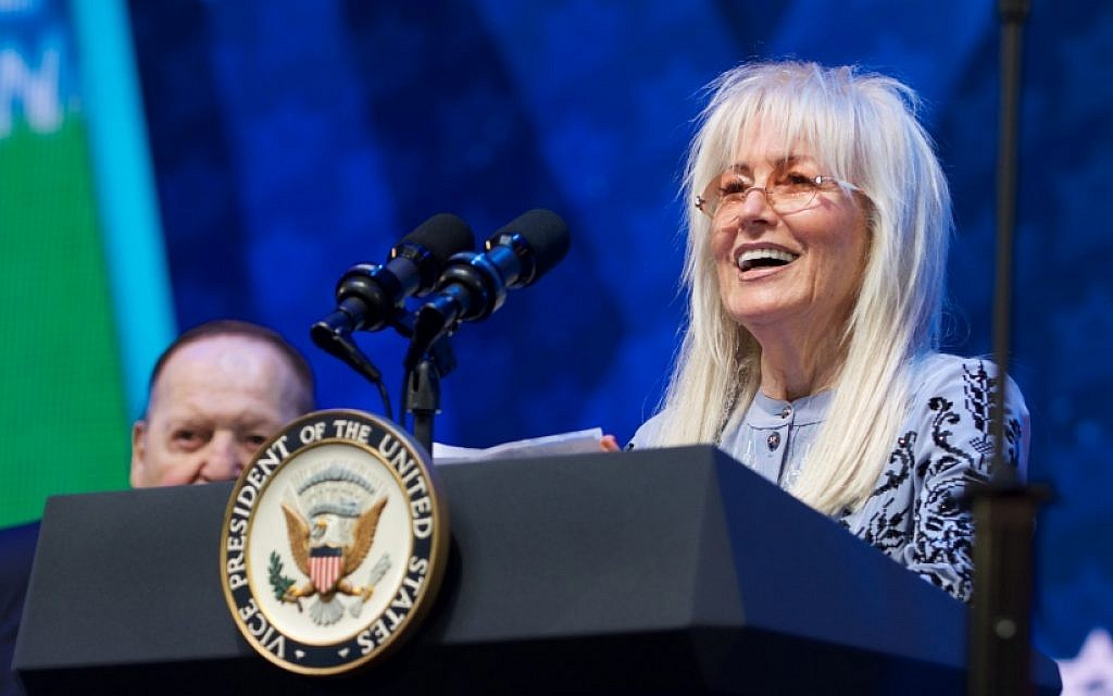 Miriam Adelson hopes there will be a biblical 'Book of ...