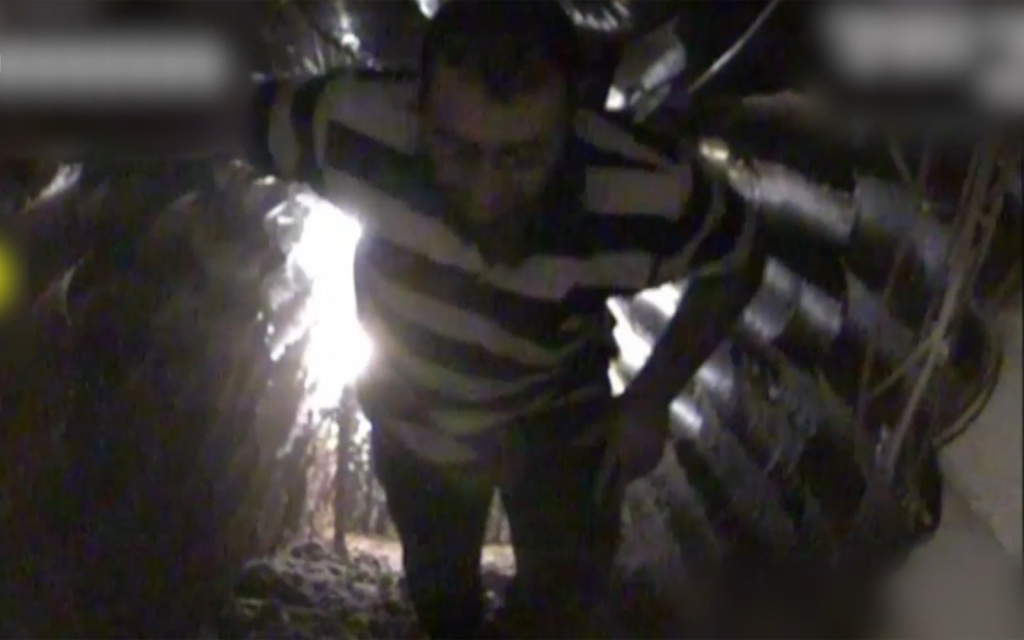 Man seen in IDF tunnel video identified as Hezbollah commander
