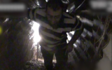 An alleged Hezbollah member walks through a tunnel dug into Israeli territory from southern Lebanon on December 4, 2018. (Screen capture: Israel Defense Forces)