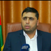 Hamas spokesman Abdelatif al-Qanou speaking to an Arabic television station on October 7, 2018. (Screenshot: Youtube)