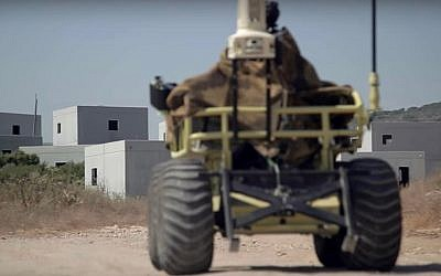 A robotic military vehicle built by Israeli-firm Roboteam. (Screen capture: YouTube)