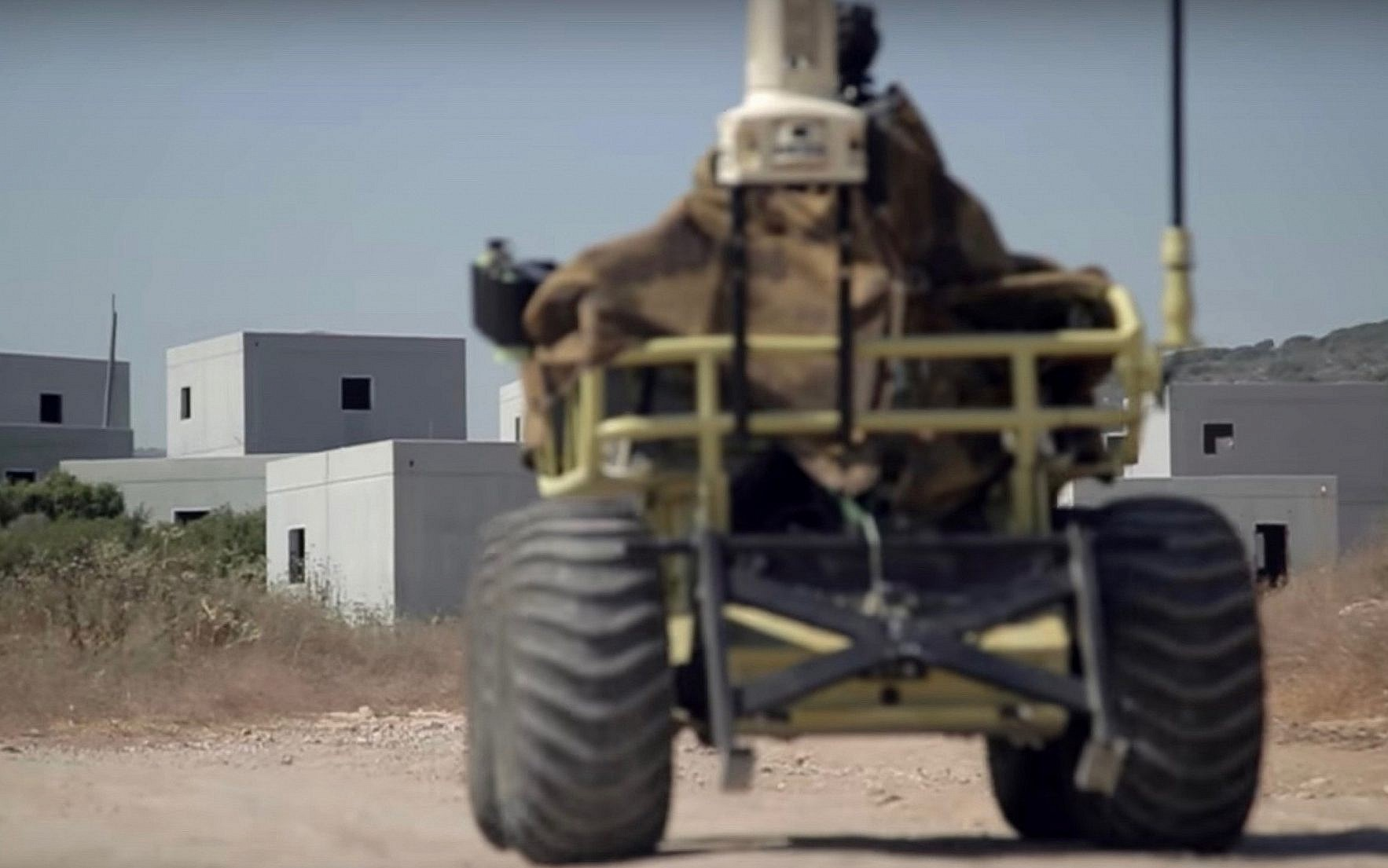 1926e3ca6cb A robotic military vehicle built by Israeli-firm Roboteam. (Screen capture   YouTube
