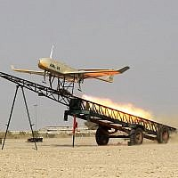 An Iranian made drone is launched during a military drill in Jask port, southern Iran, in this file picture released by Jamejam Online Dec. 25, 2014. (AP Photo/Jamejam Online, Chavosh Homavandi, File)