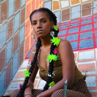 Orit Tashuma, an Ethiopian-Israeli spoken word artist (Courtesy Tadela Art Photography)