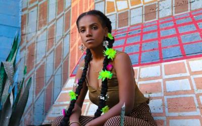 Orit Tashuma, an Ethiopian-Israeli spoken word artist (Courtesy Tadela Art Photography)