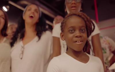 Members of a multi-age gospel choir in Tel Aviv sing 'One Love' for the annual February 9, 2019 festival (Courtesy 'One Love')