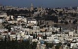 The neighborhood of Abu Tor, just south of Jerusalem's Old City, contains a hilltop that Christianity believes to be the Hill of Evil Counsel and one of the last remaining unspoiled ridges surrounding Jerusalem's Old City. December 16 2009. (Nati Shohat/Flash90)