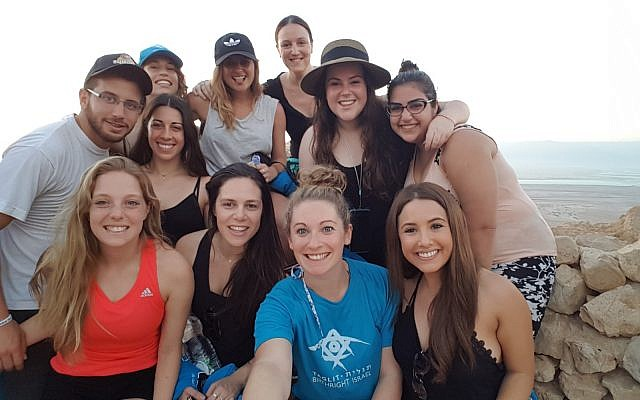 Birthright Israel trip participants. (Courtesy)