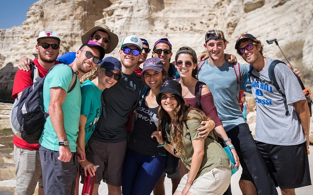 Illustrative: Participants on a Birthright Israel trip. (Courtesy)