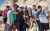 Participants in the Birthright Israel trip. (courtesy)