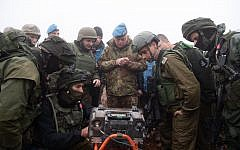 Israeli soldiers show UNIFIL commander Maj. Gen. Stefano Del Col a Hezbollah tunnel that penetrated Israeli territory from southern Lebanon on December 6, 2018. (Israel Defense Forces)