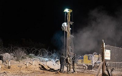 In this photo provided by the IDF on December 26, 2018, Israeli soldiers are seen at the scene of a tunnel dug across the border from Lebanon (IDF Spokesperson)