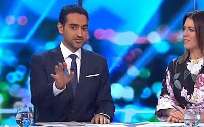 Waleed Aly (Screen grab via Channel 10 Australia)