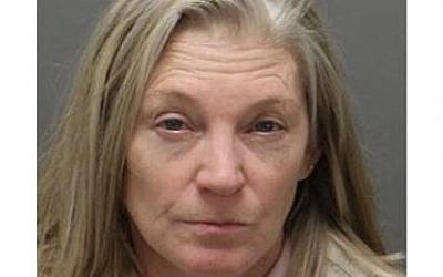 Lisa Marie Burns, 57,  of Cary, North Carolina, was arrested on Friday December 28, 2018 for vandalizing the Shaarei Shalom synanogue in the city. Photo by Cary Police