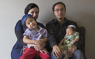 File: An Orthodox Jewish Colombian family shown in 2012. (Paul Smith/For the Washington Post/via JTA)