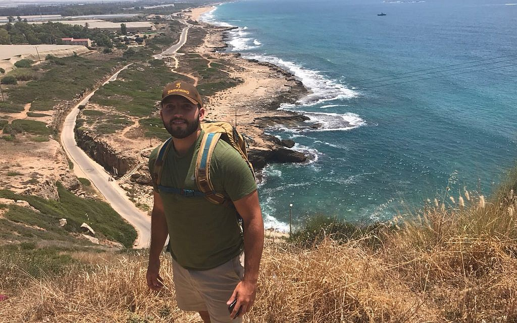 Zachary Zeff on a pre-boot camp trip to Israel. (Courtesy)