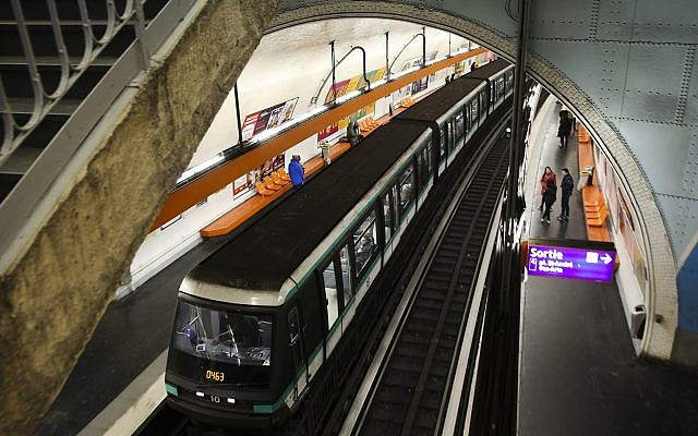 Illustrative photo of a metro station in Paris, France. January 1, 2015. (Nati Shohat/FLASH90)