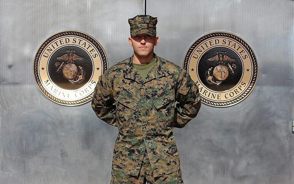 Private First Class Zachary Zeff is one of the only Jewish Marines. (Courtesy Rebecca Zeff)