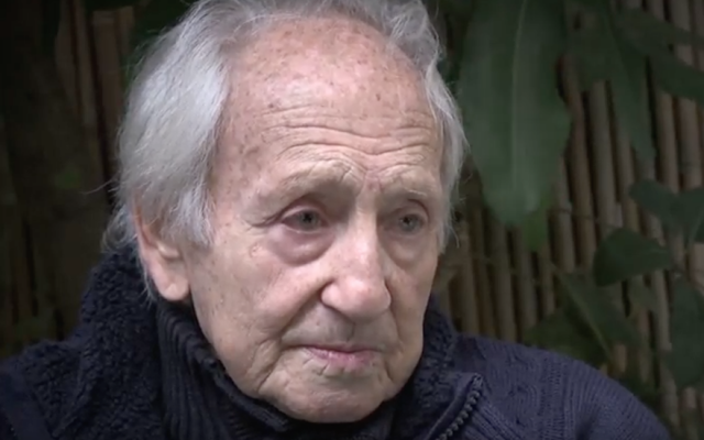 Journalist and Holocaust survivor Noah Klieger (70 Faces Media via JTA)