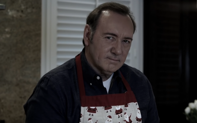 Disgraced actor Kevin Spacey in a video posted to YouTube on December 25, 2018 (YouTube screenshot)