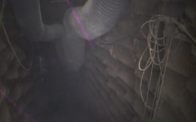 IDF footage of unearthed Hezbollah attack tunnel on the northern border (Israel Defense Forces)