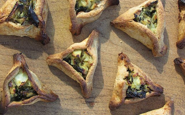 A savory hamentaschen made from foraged greens (Courtesy Ilana Stein)