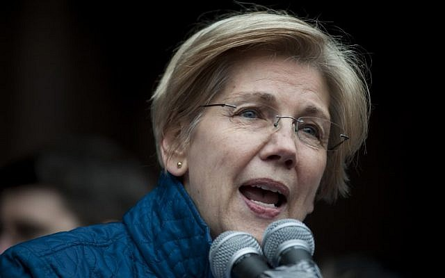In this photo from January 29, 2017 US Democratic Senator Elizabeth Warren of Massachusetts speaks to people gathered at Copley Square in Boston, Massachusetts. (Ryan McBride/AFP)