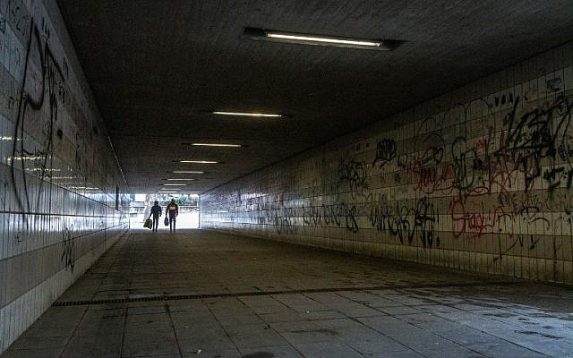 Picture taken on January 2, 2019 shows a pedestrian underpass close to the railway station of Amberg, southern Germany. (Armin Weigel / dpa / AFP)