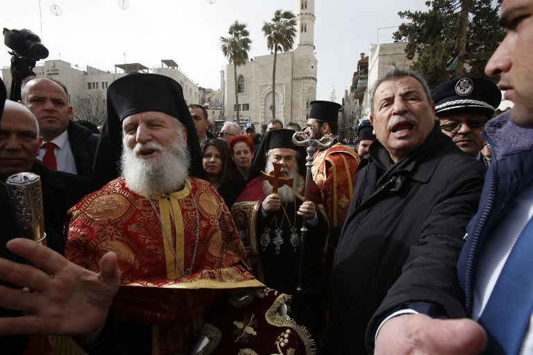 Orthodox Christmas 2019.Palestinians Protest Greek Patriarch Ahead Of Orthodox
