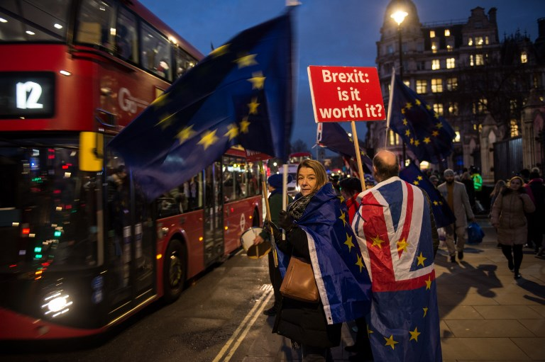 British MPs vote overwhelmingly to reject Brexit deal